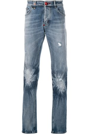 Philipp Plein Man Straight - Jeans med blekt effekt
