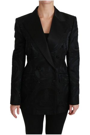 Dolce & Gabbana Crown Double Breasted Coat Jacket