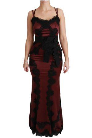 Dolce & Gabbana Maroon Lace Sweetheart Bodycon Dress