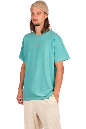 ODD FUTURE Embroidered T-Shirt turquoise
