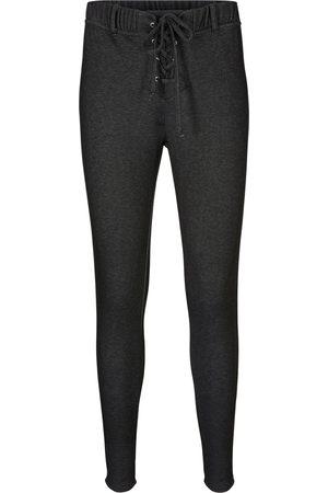 bonprix Termoleggings med snörning, jeansdesign