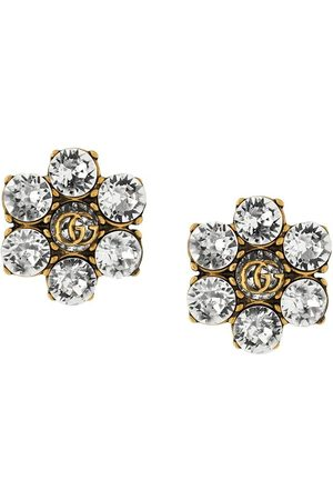 Gucci Crystal-embellished Double G clip-on earrings