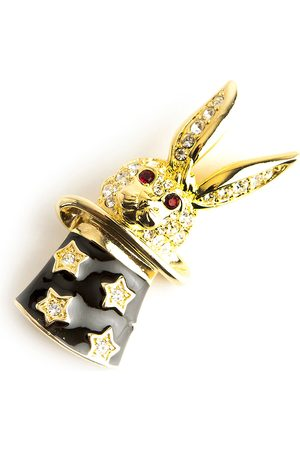 Kenneth Jay Lane Magic rabbit brooch