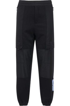 McQ Foam Logo Patch Cotton Blend Sweatpants