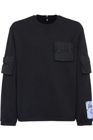 McQ Foam Cotton Sweatshirt W/ Nylon Pocket