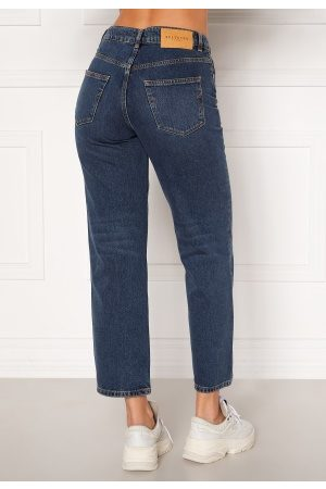 Selected Kate HW Stright Inky Jeans Medium Blue Denim 27/32