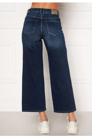Only Madison HI Life Wide Crop Jeans Dark Denim Blue 30/34