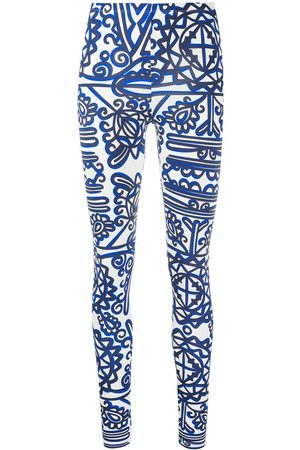 La DoubleJ Kvinna Leggings - Mönstrade leggings i stretch