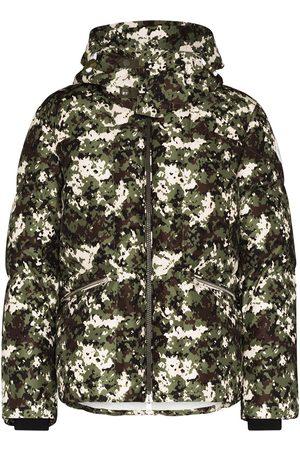 Moncler Man Vinterjackor - Blanc camouflage-print down jacket