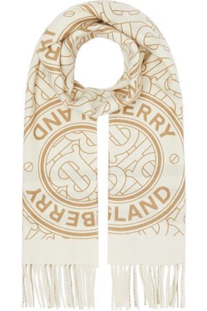 Burberry Reversible monogram cashmere scarf