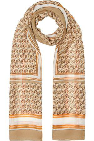 Burberry Sjalar - Unicorn-print silk scarf