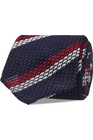 AN IVY Man Slipsar - Blue White Red Grenadine Tie Slips