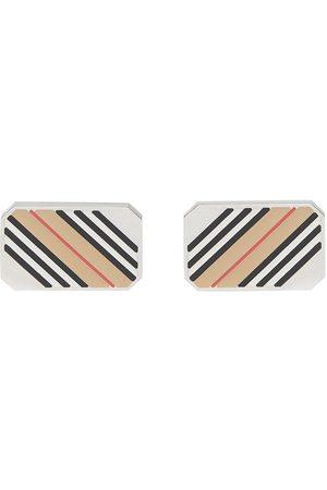 Burberry Icon stripe cufflinks