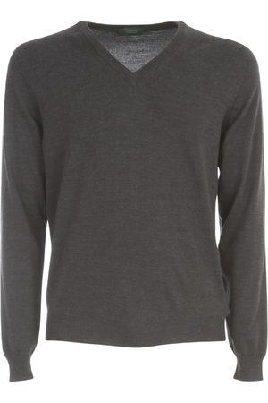 ZANONE V Neck Flex Wool Sweater