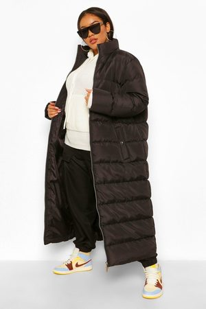 Boohoo Plus Maxi Puffer Coat, Black
