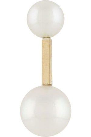 HSU JEWELLERY LONDON Making Marks pärlörhängen i 18K gult