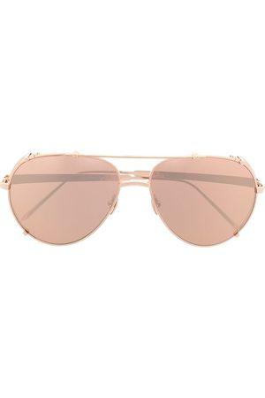 Linda Farrow Pilotsolglasögon