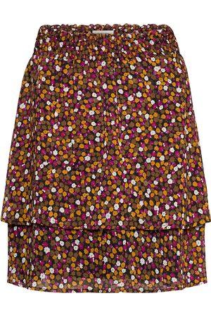 Modstrom Kvinna Mönstrade kjolar - Gryffin Print Skirt Knälång Kjol Multi/mönstrad