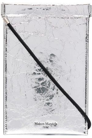 Maison Margiela Metallic-finish phone pouch