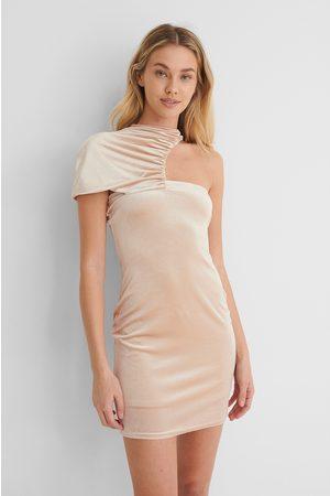 Paola Locatelli x NA-KD Kvinna Festklänningar - Miniklänning Med Rynkad Detalj