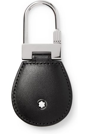 Mont Blanc Man Nyckelringar - Meisterstück Leather and Palladium-Plated Key Fob