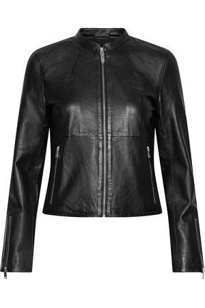 Selected Kvinna Skinnjackor - Slfibi Leather Jacket B Noos Läderjacka Skinnjacka