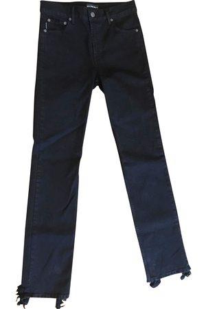 Balenciaga Distressed Hem Straight Jeans