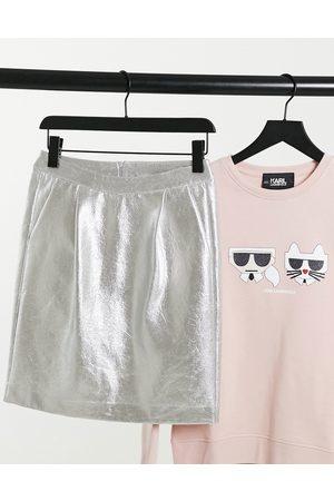 Karl Lagerfeld – Silverfärgad minikjol