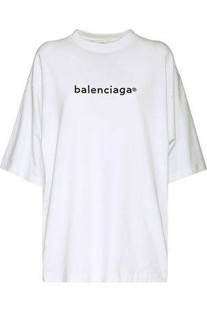Balenciaga New Copyright Cotton Jersey T-shirt