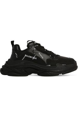 Balenciaga Triple S Faux Leather & Mesh Sneakers