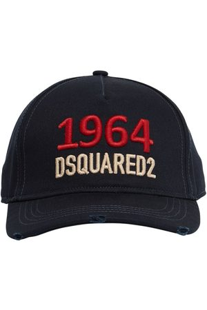 Dsquared2 Embroidered Cotton Gabardine Cap