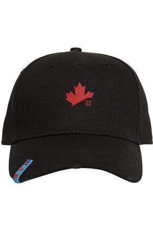 Dsquared2 Maple Leaf Embro Cotton Gabardine Cap