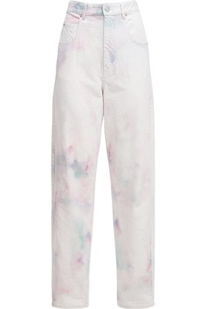 Isabel Marant Corfy Bleached Denim Baggy Jeans