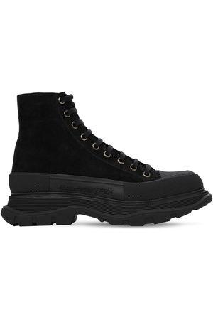 Alexander McQueen 50mm Suede Lace-up Boot Sneakers
