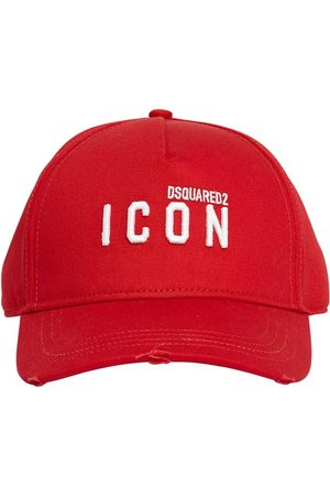 Dsquared2 Micro Icon Embro Cotton Gabardine Cap