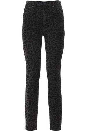 R13 High Waist Leopard Skinny Jeans