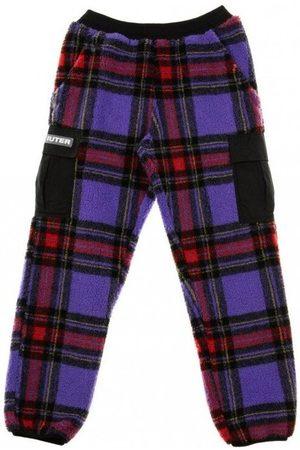 IUTER Man Joggingbyxor - Long Furry Tartan Pants