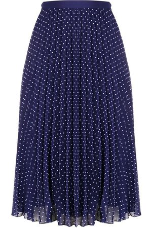 Serafini Polka dot print pleated skirt