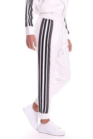 Twin-Set Jogging Pants With White Lace Band