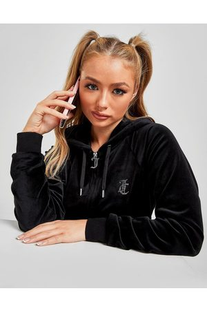 Juicy Couture Diamante Velour Full Zip Hoodie - Only at JD