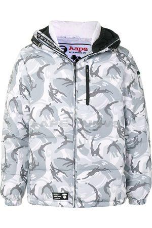AAPE BY *A BATHING APE® Kamouflagemönstrad vadderad jacka med huva