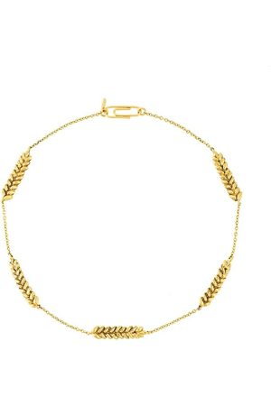 Aurélie Bidermann Kvinna Halsband - Five Wheat Cobs necklace