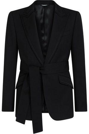 Dolce & Gabbana Man Kavajer - Enkelknäppt blazer med bälte