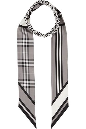 Burberry Multi-pattern thin scarf
