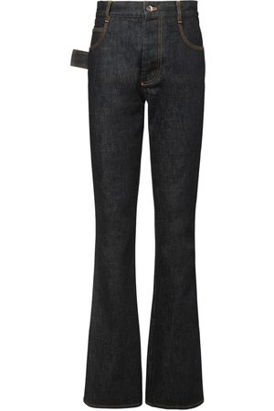 Bottega Veneta Raw Denim Flared Jeans