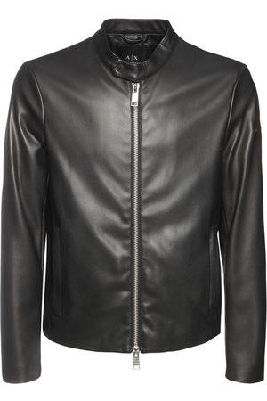 Armani Faux Leather Jacket