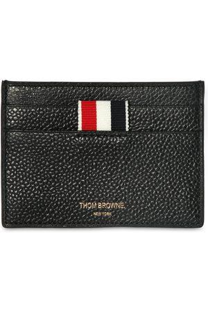 Thom Browne Man Plånböcker - Pebbled Leather Card Holder