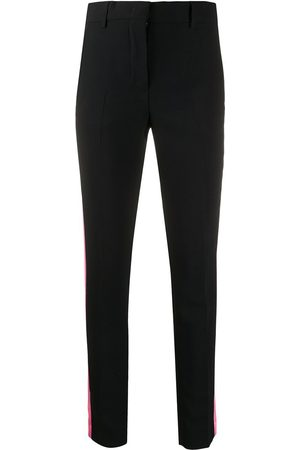 Msgm Skinny pants with side stripes