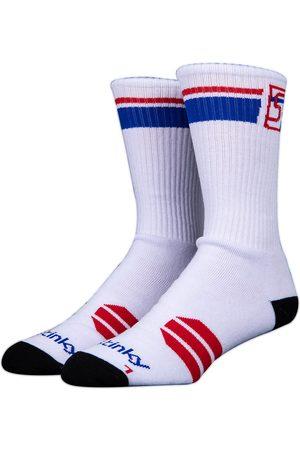 Stinky Socks Starter Skate Socks white/red/blue