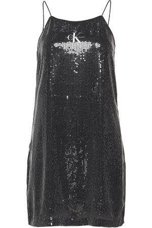 Calvin Klein Sequin Logo Strap Dress Kort Klänning